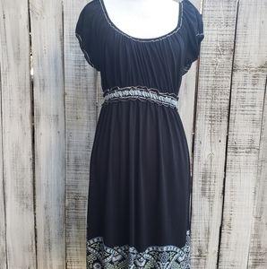 Max Studio M Dress Black Blue Floral